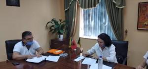 Nenshkrim i marrveshjes se bashkepunimit me Z. Fatos Tushe, kryetar i bashkise, Lushnje.